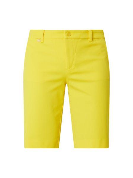 Bawełna żółty bermudy z zamkiem błyskawicznym z kieszeniami Lauren Ralph Lauren