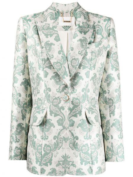 Зеленый шелковый удлиненный пиджак с карманами Zimmermann