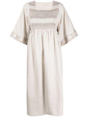 Льняное платье - бежевое Tory Burch