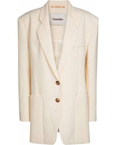 Белый пиджак из вискозы Nanushka