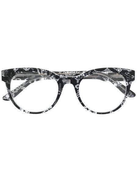 Прямые черные очки кошачий глаз прозрачные Dolce & Gabbana Eyewear