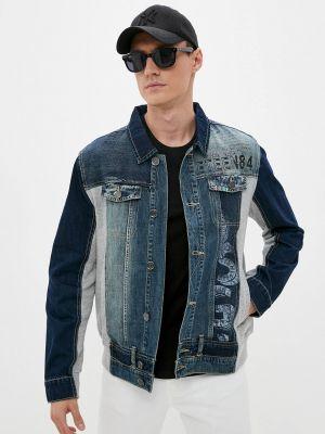 Синяя джинсовая куртка Desigual