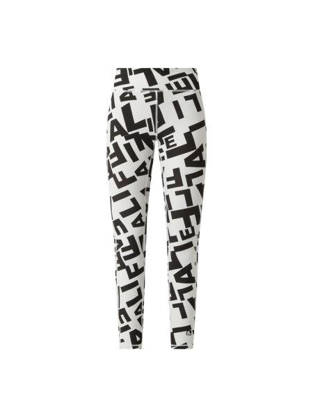 Białe legginsy z paskiem z nylonu Alife And Kickin