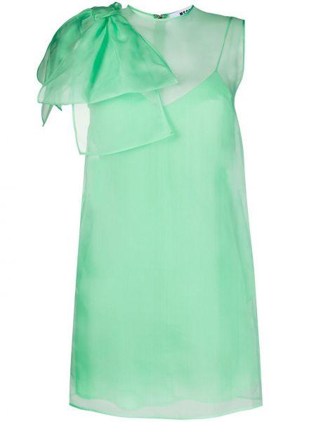 Платье через плечо шелковое Msgm