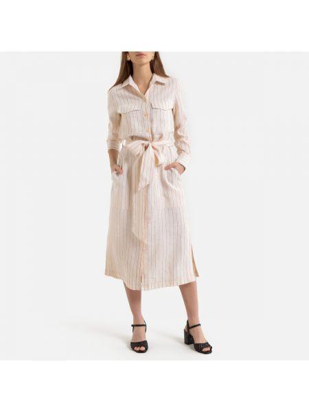 Платье макси в полоску на пуговицах La Redoute
