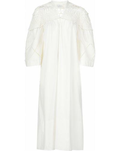 Хлопковое платье - белое Ballantyne