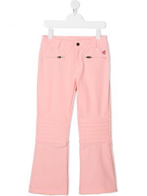 Różowe prążkowane spodnie z paskiem Perfect Moment Kids