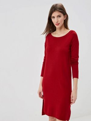 Платье вязаное красный Angelo Bonetti