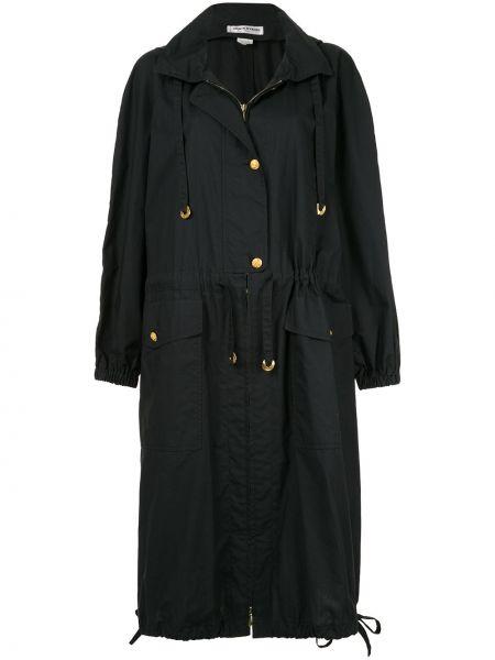 Свободное пальто с капюшоном айвори с рукавом реглан свободного кроя Sonia Rykiel Pre-owned
