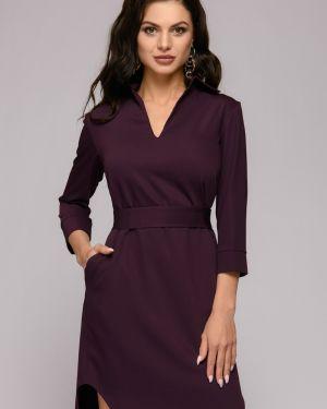 Повседневное платье с V-образным вырезом платье-рубашка 1001 Dress
