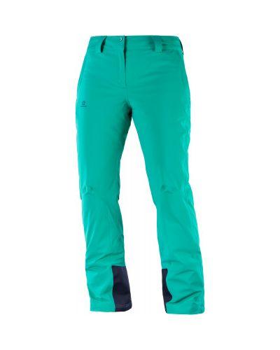 Спортивные брюки утепленные зеленый Salomon