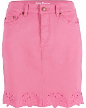 Юбка мини джинсовая с вышивкой Bonprix