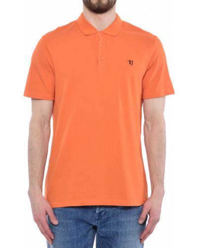 Поло оранжевый Trussardi Jeans