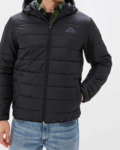 Утепленная куртка черная осенняя Kappa