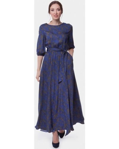 Летнее платье весеннее синее Vladi Collection