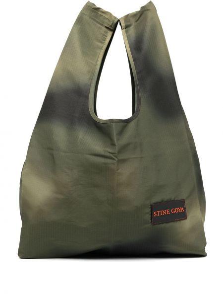 Зеленая сумка-тоут с заплатками Stine Goya