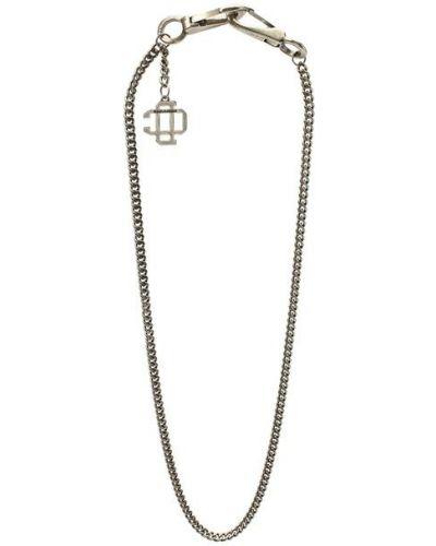 Серебряная цепь с подвесками Dsquared2