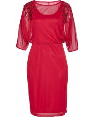 Платье свободного кроя с пайетками Bonprix