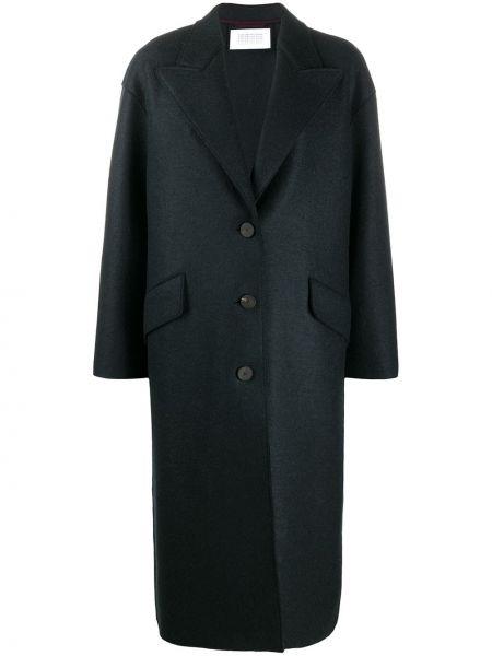 Шерстяное серое пальто оверсайз на пуговицах Harris Wharf London