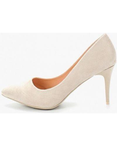 Туфли на каблуке замшевые лодочки Ideal Shoes®