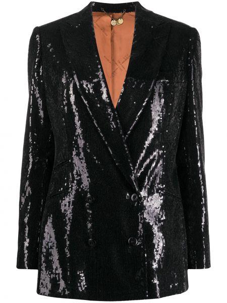 Черная свободная куртка с манжетами на пуговицах Maurizio Miri