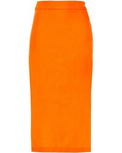 Spódnica bawełniana - pomarańczowa Simon Miller