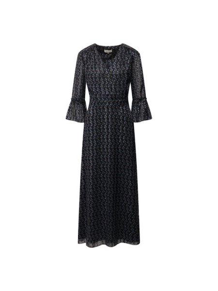 Платье с V-образным вырезом - черное Paul&joe