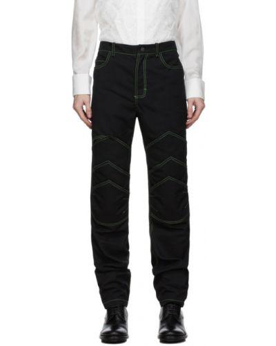 Złote czarne jeansy z paskiem Palomo Spain