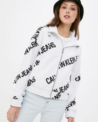 Облегченная белая джинсовая куртка Calvin Klein Jeans