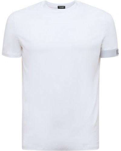 Biała t-shirt z printem Dsquared2 Underwear