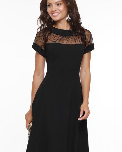 С рукавами вечернее платье с сеткой с кокеткой Dstrend