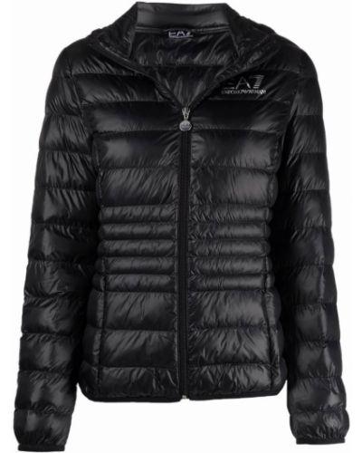 Черная длинная куртка Ea7 Emporio Armani