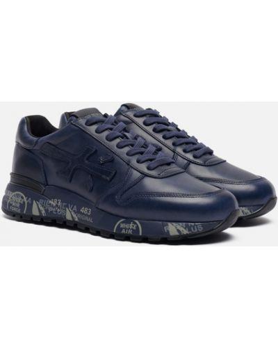 Синие текстильные кроссовки Premiata
