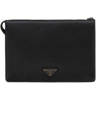 Кожаная сумка деловая на руку Prada