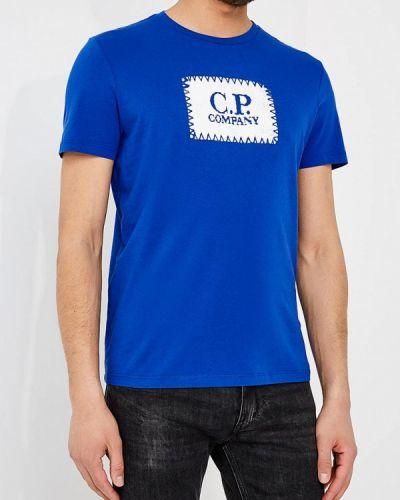 Синяя футболка C.p. Company