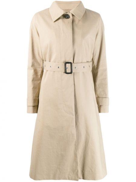 Шерстяное пальто классическое с воротником на пуговицах Mackintosh
