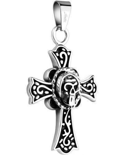 Серебряный крест с декоративной отделкой Spikes