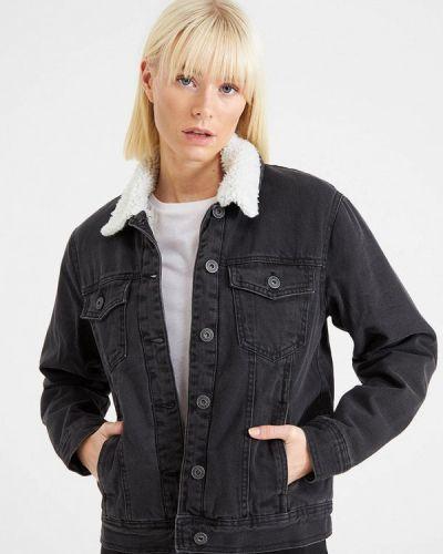 Джинсовая куртка - черная Terranova