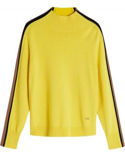 Желтый джемпер с вышивкой Victoria, Victoria Beckham