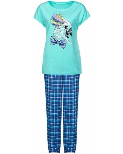Пижама с брюками фланелевая хлопковая Pelican