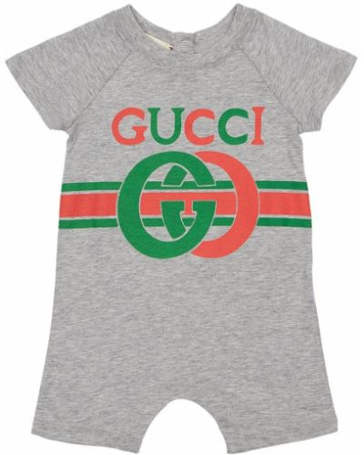 Bawełna z rękawami bawełna pajacyk Gucci