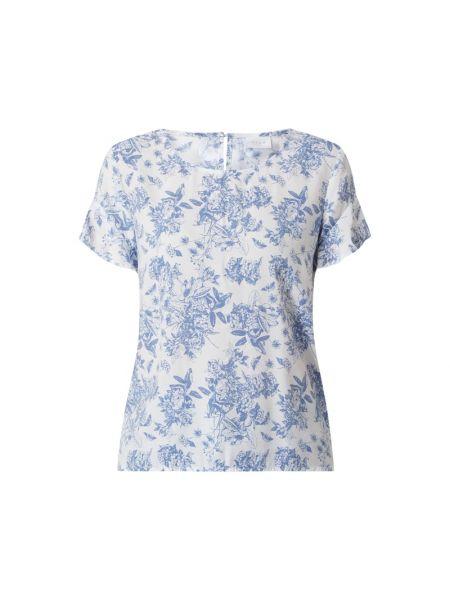 Biała bluzka z wiskozy rozkloszowana Vila