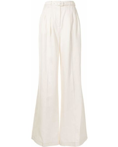 Beżowe spodnie z wysokim stanem z paskiem Gabriela Hearst