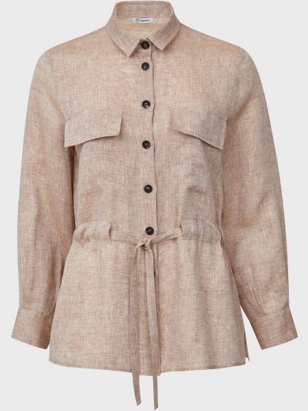 Рубашка на пуговицах - бежевая Cappellini
