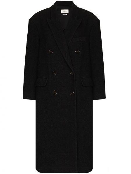 Черное пальто с карманами Isabel Marant étoile