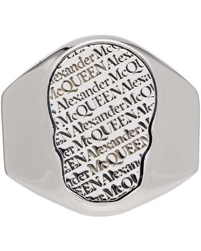 Pierścionek srebrny Alexander Mcqueen