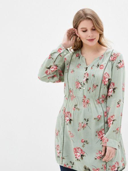 Повседневное платье зеленый весеннее Ulla Popken