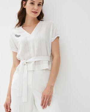 Блузка с коротким рукавом белая весенний Panda