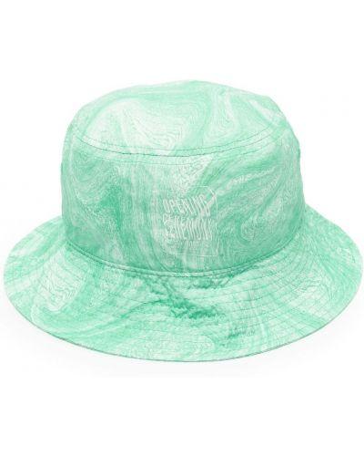 Zielony kapelusz z printem Opening Ceremony