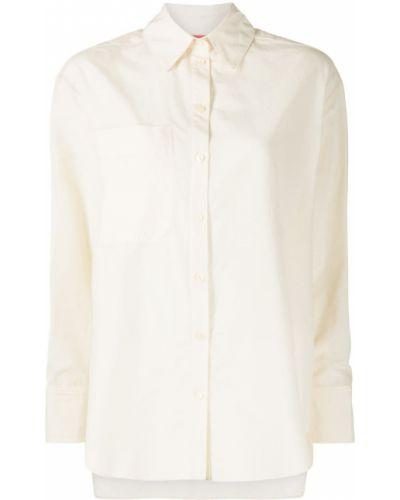 Желтая шелковая классическая рубашка с воротником Manning Cartell